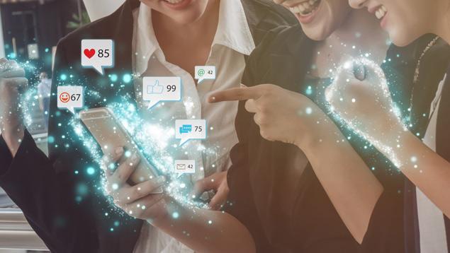 Eine Kommunikation über soziale Netzwerke